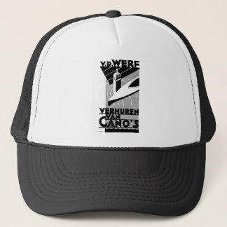 retro vintage advertisement - Werf  canoe rentals Trucker Hat