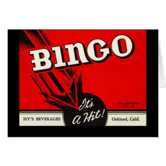 Retro Vintage Advertising Bingo Bevvie Note Cards