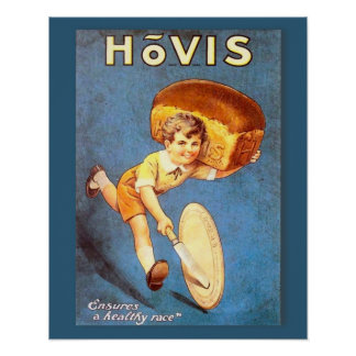 Retro vintage advertising, Hovis bread Poster