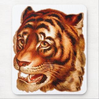 Retro Vintage Advertising Tiger Tiger's Eye Mouse Pad