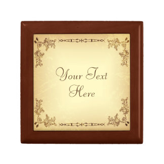Retro Vintage Aged Paper Jewelry Boxes