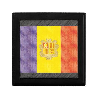 Retro Vintage Andorra Flag Jewelry Box