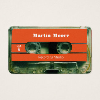 Retro vintage audio style cassette cover business card