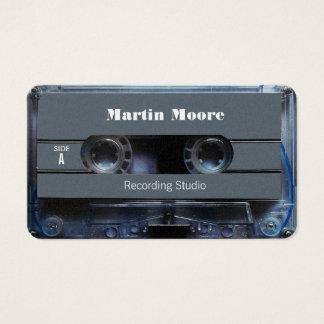Retro vintage audio style cassette cover business card