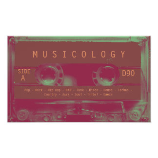 Retro vintage audio style cassette cover poster