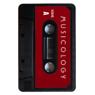 Retro vintage audio style cassette cover rectangular photo magnet