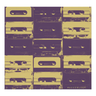 Retro vintage audio style music cover poster