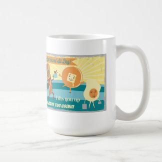 Retro vintage breakfast coffee smoothies mug