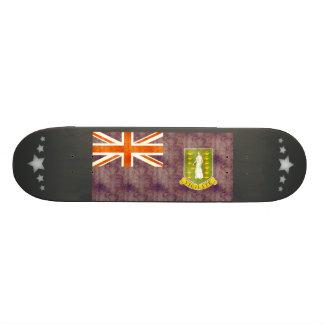 Retro Vintage British Virgin Islands Flag Skate Board