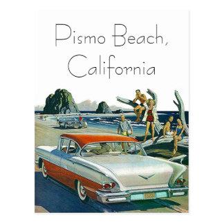 Retro Vintage Car Postcard Travel Road Trip Custom