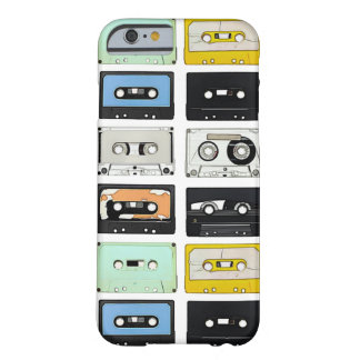 Retro vintage Cassette Mix Tapes art pattern Barely There iPhone 6 Case