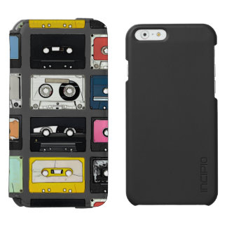 Retro vintage Cassette Mix Tapes art pattern Incipio Watson™ iPhone 6 Wallet Case