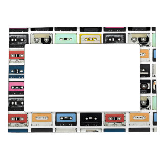 Retro vintage Cassette Mix Tapes art pattern Magnetic Frame