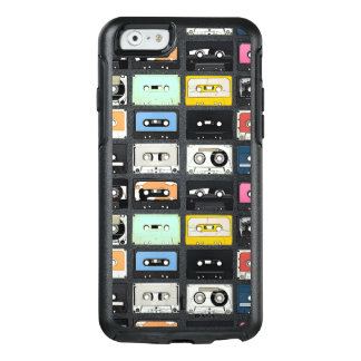 Retro vintage Cassette Mix Tapes art pattern OtterBox iPhone 6/6s Case
