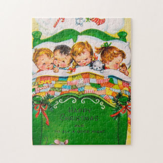 Retro Vintage Christmas Dreams Festive puzzle
