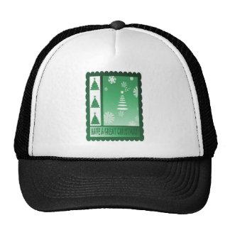 Retro Vintage Christmas trees Trucker Hats