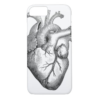 Retro Vintage Cool Anatomical Heart Sketch iPhone 8/7 Case