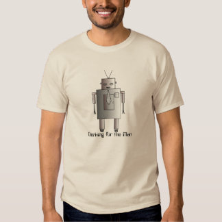 Retro Vintage Corporate Robot Working for Man Shirts