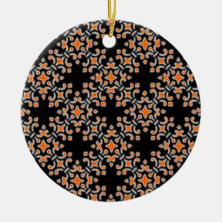 Retro Vintage Damask Round Ornament