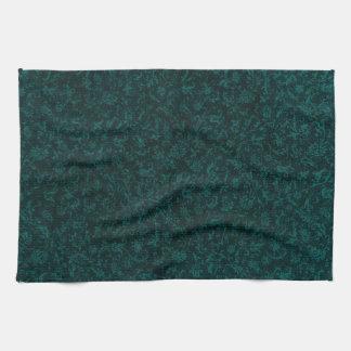 Retro Vintage Dark Teal Kitchen Towels