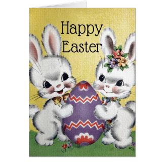 Retro/Vintage Easter Bunnies Card