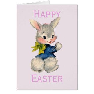 Retro/Vintage Easter Bunny Card