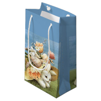 Retro/Vintage Easter Bunny Small Gift Bag