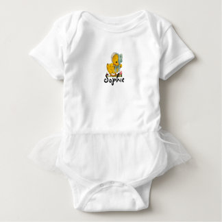 Retro/Vintage Easter Chick Baby Bodysuit