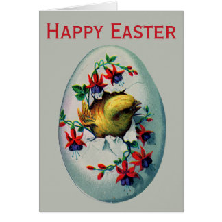Retro/Vintage Easter Chick Card
