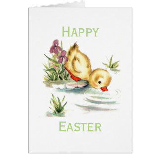 Retro/Vintage Easter Duckling Card
