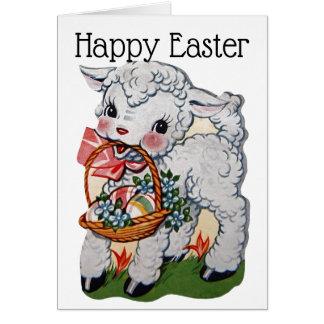 Retro/Vintage Easter Lamb Card