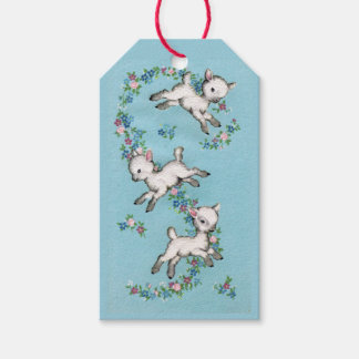Retro/Vintage Easter Lambs Gift Tags