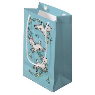 Retro/Vintage Easter Lambs Small Gift Bag
