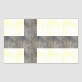 Retro Vintage Finland Flag Rectangular Sticker