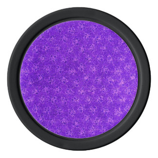 Retro Vintage Floral Amethyst Purple Poker Chip Set
