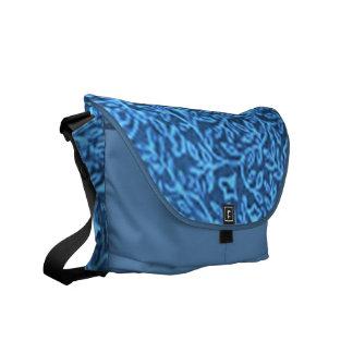 Retro Vintage Floral Blue Messenger Bag