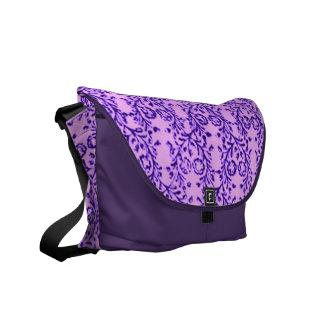 Retro Vintage Floral Lavender Purple Messenger Bag