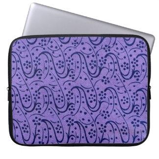 Retro Vintage Floral Swirls Purple Laptop Sleeve