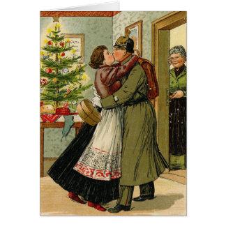 Retro Vintage German Soldier Christmas Card