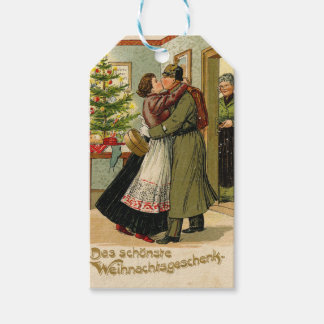 Retro Vintage German Soldier Christmas Gift Tags