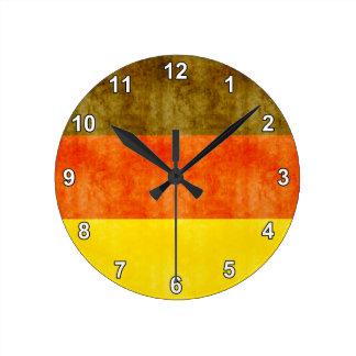 Retro Vintage Germany Flag Round Clock