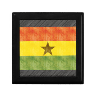 Retro Vintage Ghana Flag Jewelry Boxes