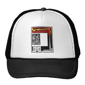 retro vintage graphic advertisement: paint factory cap