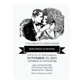 Retro Vintage Great Gatsby Style Art Deco Wedding Card