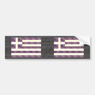 Retro Vintage Greece Flag Bumper Sticker