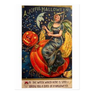 Retro Vintage Halloween Joyful Halloween Post Cards