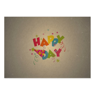 Retro Vintage Happy Birthday Pattern Business Cards