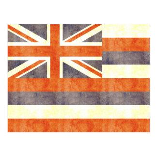 Retro Vintage Hawaii Flag Postcard