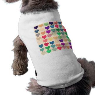 Retro vintage heart tiled heart pattern colorful pet clothes