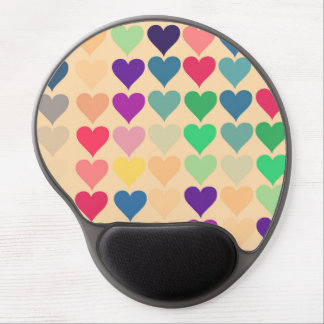 Retro vintage heart tiled heart pattern colorful gel mousepad